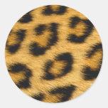 Mi producto del tema de la piel del leopardo pegatina