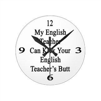 Mi profesor de inglés puede golpear a su profesor reloj redondo mediano