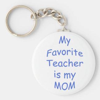 Mi profesor preferido es mi mamá llavero redondo tipo pin