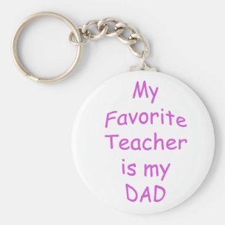 Mi profesor preferido es mi papá llavero redondo tipo pin