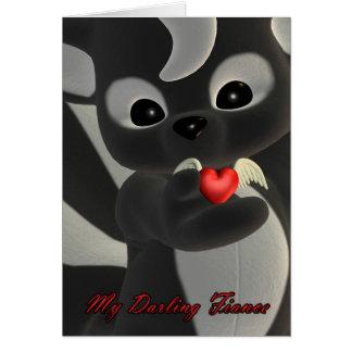 Mi prometido querido, tarjeta del el día de San Va