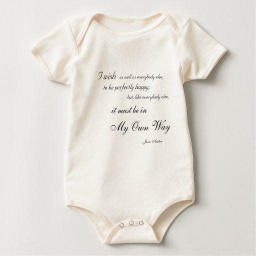 Mi propia enredadera del niño de la manera mameluco de bebé