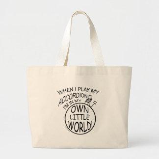 Mi propio pequeño mundo, acordeón bolsa tela grande