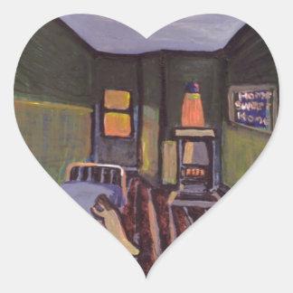 (Mi propio sitio en los niños se dirige al Calcomanía Corazón Personalizadas
