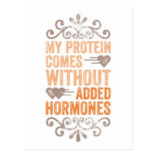 Mi proteína viene sin las hormonas añadidas postal