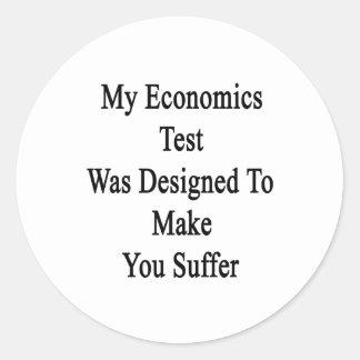 Mi prueba de la economía fue diseñada para hacer pegatina redonda