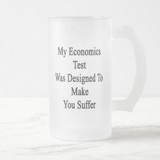 Mi prueba de la economía fue diseñada para hacer taza de cristal