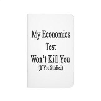 Mi prueba de la economía no le matará si usted cuaderno grapado