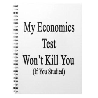 Mi prueba de la economía no le matará si usted libros de apuntes con espiral