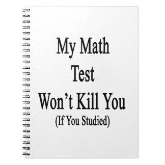 Mi prueba de la matemáticas no le matará si usted libro de apuntes