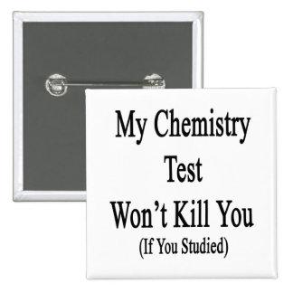 Mi prueba de la química no le matará si usted pin