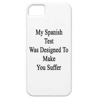 Mi prueba española fue diseñada para hacer que funda para iPhone SE/5/5s