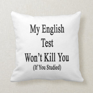 Mi prueba inglesa no le matará si usted estudió almohada