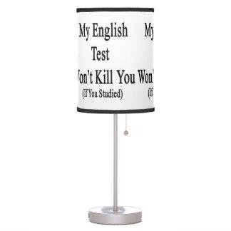 Mi prueba inglesa no le matará si usted estudió