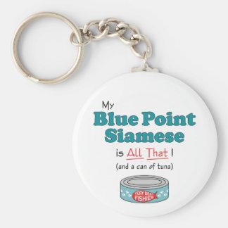¡Mi punto azul siamés es todo el eso! Gatito diver Llavero Redondo Tipo Pin