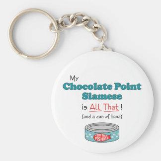 ¡Mi punto del chocolate siamés es todo el eso! Llavero Redondo Tipo Pin