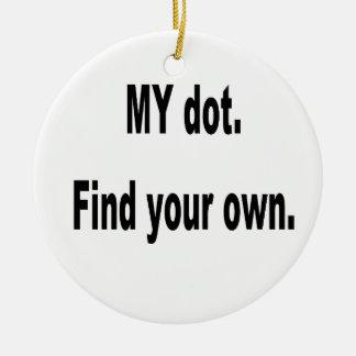 MI punto. ¡Encuentre sus los propios! Banda del cu Ornamento De Navidad