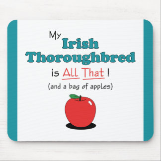 ¡Mi pura sangre irlandés es todo el eso! Caballo d Tapete De Raton
