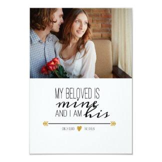 """Mi querido es el mío, foto de los pares de la invitación 3.5"""" x 5"""""""