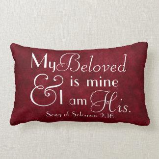 Mi querido es el mío y soy su verso de la biblia almohadas