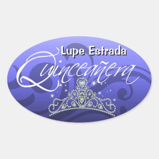 Mi Quinceañera Sparkling Tiara (orchid) Party Stickers