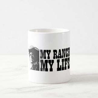 Mi rancho mi vida regalo para un granjero o ranch tazas