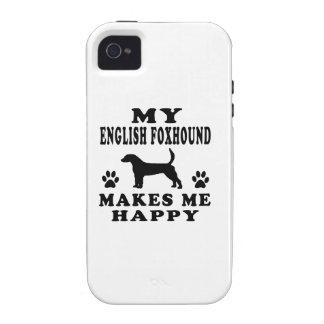 Mi raposero inglés me hace feliz iPhone 4 funda