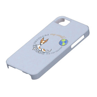 Mi rata blanca roja Terrier del mundo iPhone 5 Case-Mate Coberturas