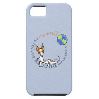 Mi rata blanca roja Terrier del mundo iPhone 5 Case-Mate Funda