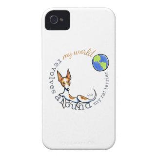 Mi rata blanca roja Terrier del mundo iPhone 4 Carcasa