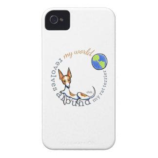 Mi rata blanca roja Terrier del mundo iPhone 4 Case-Mate Coberturas