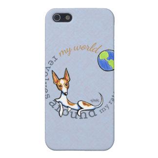Mi rata blanca roja Terrier del mundo iPhone 5 Fundas