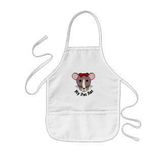Mi rata del mascota (arco de w/Red) Delantal