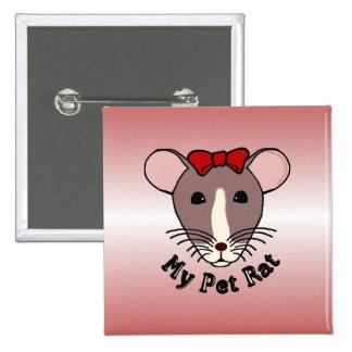Mi rata del mascota arco de w Red Pin