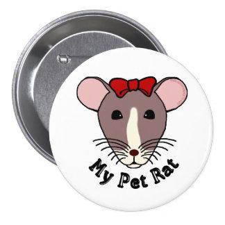 Mi rata del mascota arco de w Red Pins