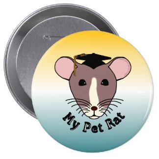 Mi rata del mascota graduado pin