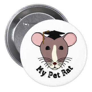 Mi rata del mascota graduado pins