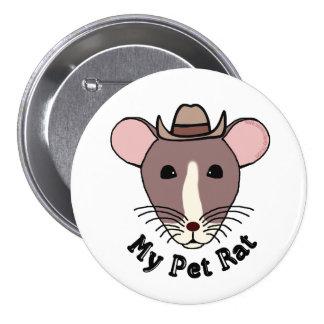 Mi rata del mascota vaquero pin