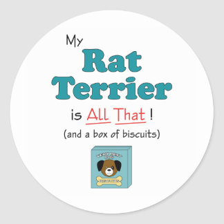 ¡Mi rata Terrier es toda la eso! Etiqueta Redonda