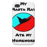 ¡Mi rayo de Manta comió mi preparación! iPhone 4 Fundas