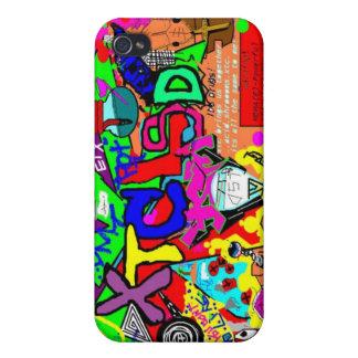 Mi rayo del amigo dibujó esto en la pintura iPhone 4 protectores