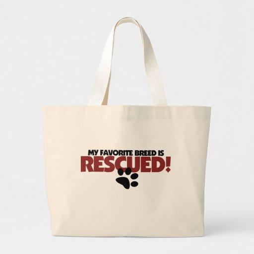 Mi raza preferida del perro se rescata bolsas
