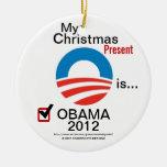 Mi regalo de Navidad es Obama 2012 - #4 Adorno De Reyes