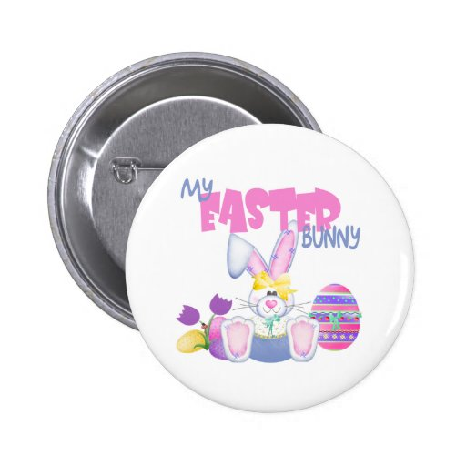 Mi regalo de Pascua del conejito de pascua Pins