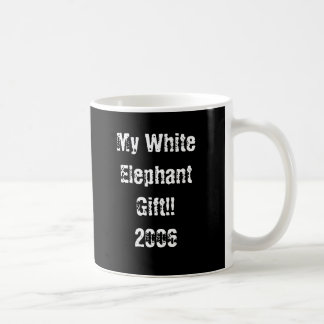 Mi regalo del elefante blanco tazas