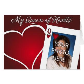 Mi reina de corazones - amor del póker tarjeta