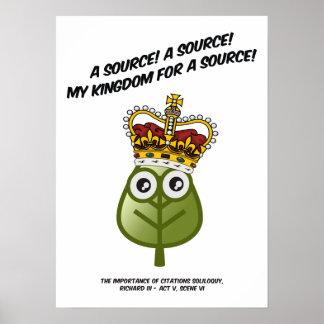 ¡Mi reino para una fuente Posters