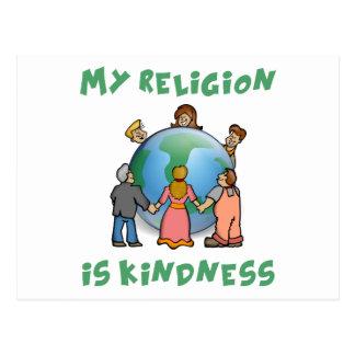 Mi religión es amabilidad postales