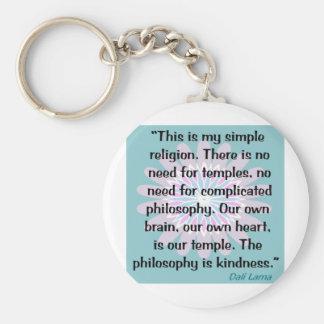 Mi religión simple llaveros