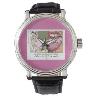Mi reloj unisex divertido del dentista judío